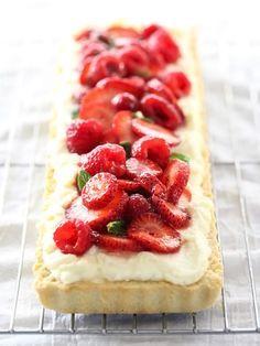 Berry Tart with Lemon Curd Mascarpone http://foodiecrush.com