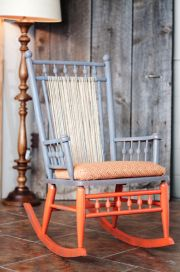 Learn How To #restore An Old Rocking Chair. I Love These Colors And Textures
