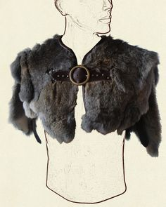 Fur mantle by Battle Ready. Perfect for a winter Viking outfit.