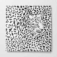 Lynx background Metal Print by vladimirceresnak Aluminium Sheet, Lynx, Laser Cutting, Metal Art, Wooden Frames, High Gloss, Vibrant Colors, Hanger, Wire