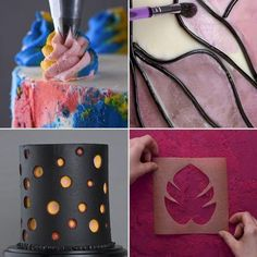 Make your best-ever cakes with these cake ideas and cake flavor ideas! to get you to think outside the box—they're also just plain delicious. box for cookies Delicious designs! 8 easy and elegant cakes for any occasion! Cake Decorating Icing, Cake Decorating Techniques, Cake Decorating Tutorials, Cake Icing Techniques, Icing Cake Design, New Cake Design, Buttercream Cake Designs, Frosting, Decorating Ideas