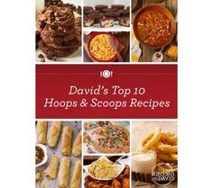 """Online collection of 10 FREE """"Hoops & Scoops"""" Recipes from QVC's In the kitchen with David #MarchMadness"""
