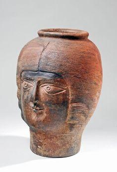 Ceramic vessel moulded in the shape of Empress Julia Domna