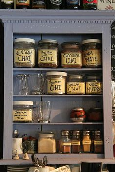 What a darling display in a kitchen! Chai Teas