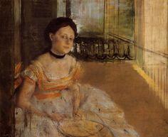 Woman Seated on a Balcony - 1872. Edgar Degas