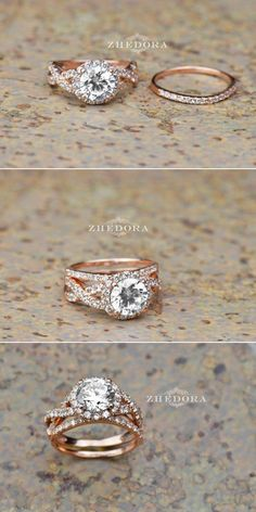 Engagement Rings & Wedding Rings You Don't Want to Miss! CT Round Cut Engagement Ring band set in Solid or Rose Gold Bridal, Wedding CT Round Cut Engagement Ring band set in Solid or Rose Gold Bridal, Wedding Set Popular Engagement Rings, Round Cut Engagement Rings, Band Engagement Ring, Engagement Ring Settings, Wedding Engagement, Wedding Sets, Wedding Bands, Wedding Ring, Bridal Sets
