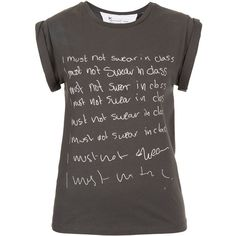 TOPSHOP Petite I Must Not Swear Tee ($40) found on Polyvore