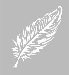 Repositionable adhesive stencil of French manufacture in a m . ♡ Adhesive adhesive stencil of French manufacture in a flexible gray PVC material, resistant and washable. Resists multiple uses, fits most media. Feather Stencil, Feather Pattern, Stencil Art, Stencil Templates, Stencil Patterns, Stencil Designs, Kirigami, Adhesive Stencils, Scan And Cut