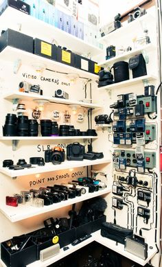Now this is how you organise equipment! -- I have no loyalty to my [camera] gear. - Casey Neistat Now this is how you organise equipment! -- I have no loyalty to my [camera] gear. Photography Studio Setup, Dslr Photography Tips, Photography Equipment, Landscape Photography, Photography Office, Photography Store, Wedding Photography, Photography Contests, Photography Courses