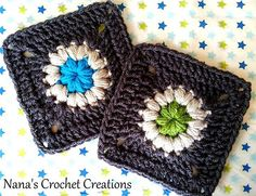 "Ravelry: Nana's ""Fancy Puff Flower"" Square (Mini Version) pattern by Des Maunz"