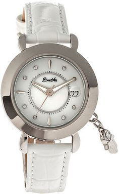 Shop Now - >  https://api.shopstyle.com/action/apiVisitRetailer?id=523422881&pid=uid6996-25233114-59 BERTHA Bertha Womens Hannah Mother-Of-Pearl White Leather-Band Watch With Datebthbr5603  ...