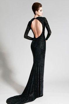 Nadine Zeni black dress