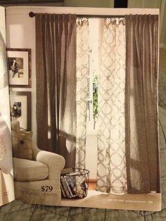Pottery Barn - layered drapes