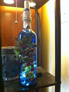 Recycled wine bottle made for my niece Fe