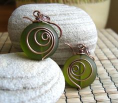 Hypnotized earrings - offset spiral.