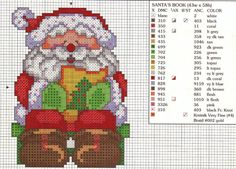 Santa Cross Stitch: Christmas