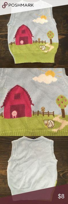 BABY GAP GIRL SWEATER VEST 3T BABY GAP GIRL FARM SWEATER VEST 3T baby gap Shirts & Tops Sweaters