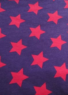 Purple and fuchsia stars jersey (by half metre)   Kitschy Coo