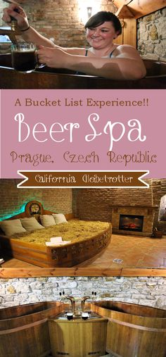 A spa with beer? Unlimited beer? Beer Bread? A bed of hay? In Prague? In Karlovy Vary? THIS is an experience I.JUST.GOTTA.HAVE!! - A Bucket List Experience! - Beer Spa in Prague, Czech Republic - California Globetrotter