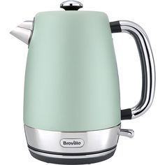 Breville VKJ998 Strata Collection Kettle (6.785 RUB) ❤ liked on Polyvore featuring home, kitchen & dining, small appliances, green kettle, green tea kettle, electric tea kettle, electric teakettle and green electric kettle