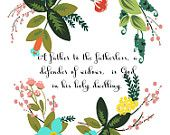Bible Scripture Art- Psalm 68:5- 8.5X11 Printable - BV-183