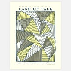 Fab.com | Land Of Talk Poster 18x24  [Angular form]