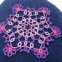 I tat lace Frivolite,  chiacchierino, Occhi  I have a blog called: Carollyn's…