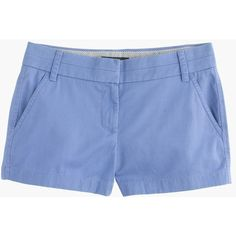 """J.Crew 3"""" Chino Short ($52) ❤ liked on Polyvore featuring shorts, bottoms, j.crew, zipper shorts, short shorts, chino shorts and j. crew shorts"""