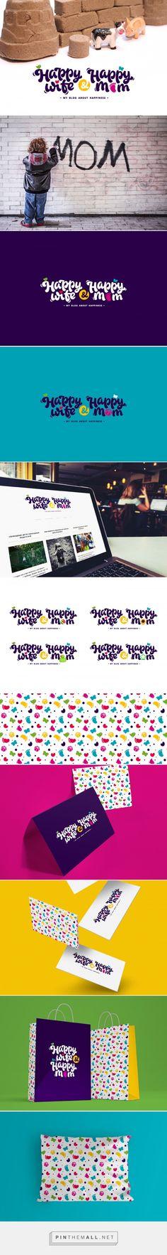 Happy Wife & Happy Mom — Brand Identity, Lettering on https://www.behance.net/gallery/32628615/Happy-Wife-Happy-Mom-Brand-Identity-Lettering