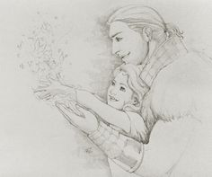 Anders and his child, almost makes you forget his misdeeds. ~The mage and his apprentice by rooster82 on deviantART