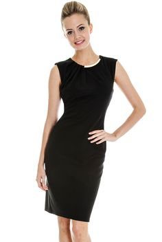 Neck Detail Tailored Dress