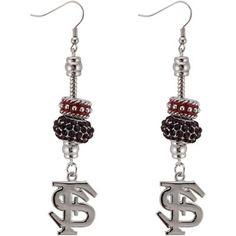 Florida State Seminoles (FSU) Dangle Bead Earrings minus the letters