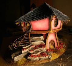 TerraGenesis: Elven Autumn House. #house #miniature.