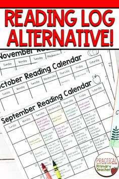 Are you looking for a reading log alternative, but still want to keep kids accountable for reading at home? These fun calendars have a reading activity for students to do at home each day using their own books. Tons of fun activities to encourage sustained reading time without having to record pages, minutes, or titles. Reading Homework, Reading Logs, Kindergarten Reading, Reading Time, Reading Skills, Close Reading, Guided Reading, Reading Resources, Reading Activities