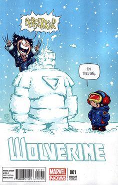 Wolverine vol. 5 by Skottie Young Baby Marvel, Marvel Kids, Baby Avengers, Marvel Comics, Chibi Marvel, Deadpool Chibi, Comic Book Artists, Comic Book Heroes, Comic Books Art