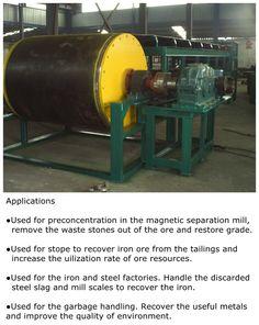CTDG dry drum magnetic separator for lump iron ore