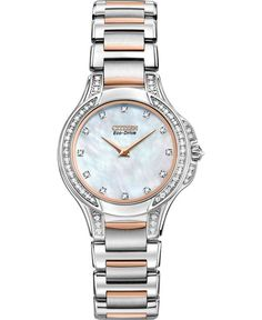 Citizen Women's The Signature Collection Eco-Drive Fiore Watch Stainless Steel Watch, Stainless Steel Bracelet, Beautiful Watches, Beautiful Ladies, Gold Watch, Bracelet Watch, Jewelry Watches, Fine Jewelry, Diamond
