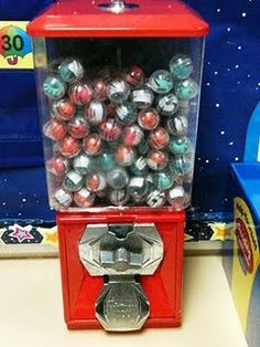 New Behavior Reward in my Classroom- now I want a gumball machine full of rewards for my classroom! Classroom Reward System, Classroom Prizes, Classroom Behavior Management, Student Behavior, Kids Behavior, School Classroom, Classroom Organization, Classroom Ideas, Classroom Incentives