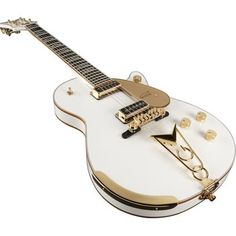 "Jack White  -  Very rare 1957 Gretsch White Penguin. One of the rarest guitars in the world, it can be seen in the video for the song ""Icky Thump."""