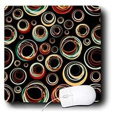 Amazon.com: TNMPastPerfect Retro - Retro Circles - Mouse Pads: Electronics