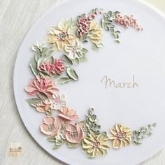 """""""March"""" With out any reason Just want to write some words on the empty space Paint with buttercream"""