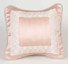 Madison with Lace Throw Pillow