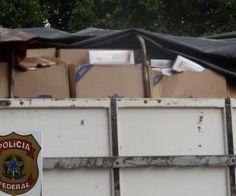 FENAPEF - Polícia Federal apreende três carretas com mil pacotes de cigarros