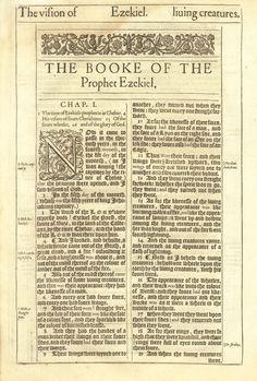 1611 King James Bible First Edition : Ezekiel Title