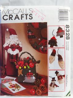 McCall's 8328 Holiday Christmas Decorations