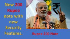 New 200 Rupee note with new security Features