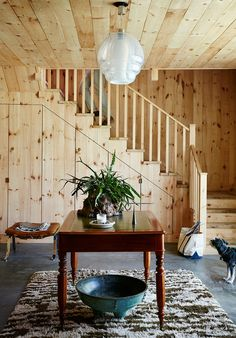 A Designer Skipped Natural Stone for This Inexpensive Flooring in His Upstate Studio
