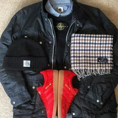 Away Days - Barbour,  Stone Island and all red Spezials