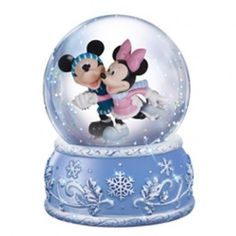 Mickey And Minnie - Musical Water Globe - Gifts - Precious Moments