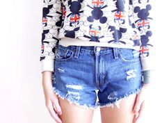 distressed cut off Levi Shorts by Birdsnbicycles on Etsy, $23.00